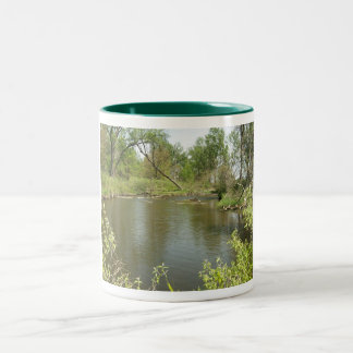 Penique del lago spring taza dos tonos