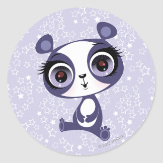 Penique la panda dulce pegatina redonda