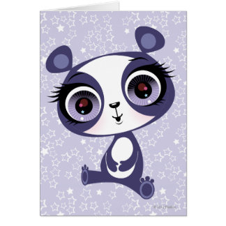 Penique la panda dulce tarjeta de felicitación