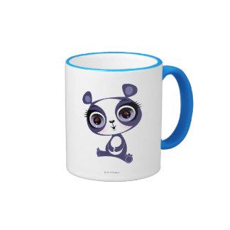 Penique la panda dulce taza de dos colores
