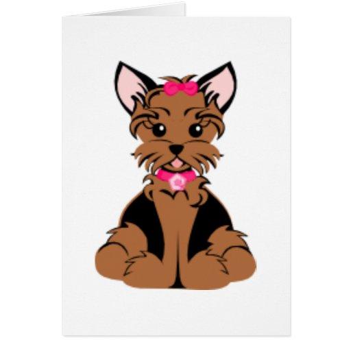 Penique las tarjetas de felicitación de Terrier