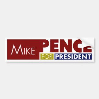 Peniques de Mike para presidente V1 Pegatina Para Coche