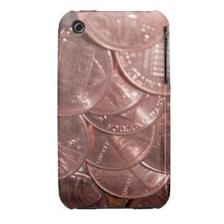 Peniques del caso del iPhone del cielo iPhone 3 Case-Mate Carcasas