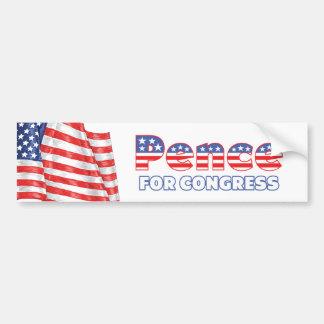 Peniques para la bandera americana patriótica del  pegatina de parachoque