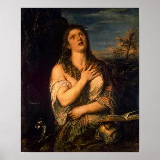 Penitent Magdalena Póster