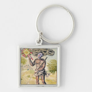 Penitent man in India Keychain