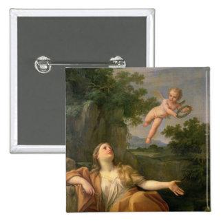 Penitent Maria Magdalena, 1700-05 Pin Cuadrada 5 Cm