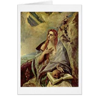 Penitent Maria Magdalena de El Greco Tarjetón