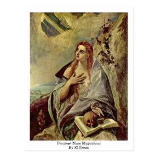 Penitent Maria Magdalena de El Greco Tarjetas Postales