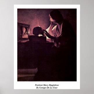 Penitent Maria Magdalena de Georges de La Tour Poster