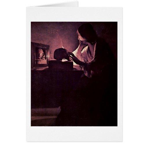 Penitent Maria Magdalena de Georges de La Tour Felicitaciones