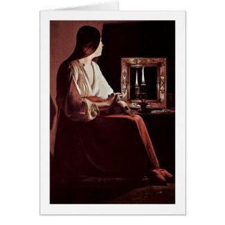 Penitent Maria Magdalena de Georges de La Tour Tarjeta