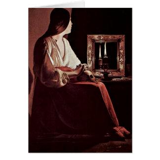 Penitent Maria Magdalena de Georges de La Tour Tarjetón