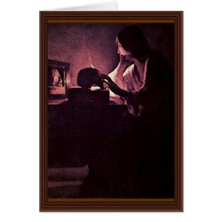 Penitent Maria Magdalena (Magdalena Fabius) Tarjeta De Felicitación