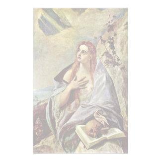 Penitent Maria Magdalena por el EL de Greco Papeleria