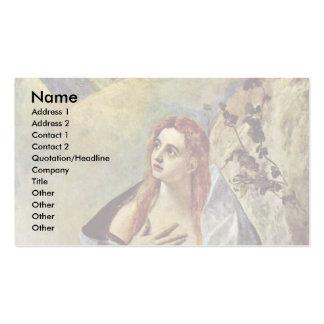 Penitent Maria Magdalena por el EL de Greco Plantillas De Tarjetas De Visita