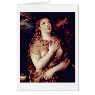 Penitent Maria Magdalena por Titian Tarjeta