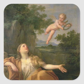 Penitent Mary Magdalene, 1700-05 Square Sticker