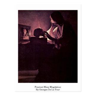 Penitent Mary Magdalene By Georges De La Tour Postcard