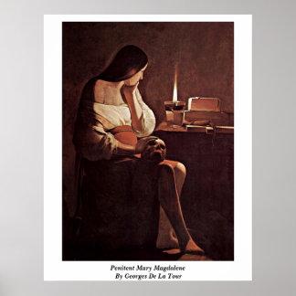 Penitent Mary Magdalene By Georges De La Tour Poster