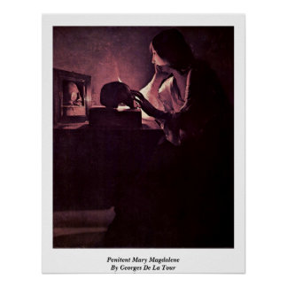 Penitent Mary Magdalene By Georges De La Tour Posters
