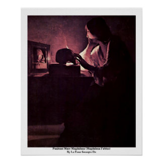 Penitent Mary Magdalene (Magdalena Fabius) Poster