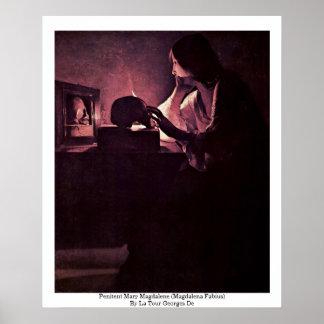 Penitent Mary Magdalene (Magdalena Fabius) Print