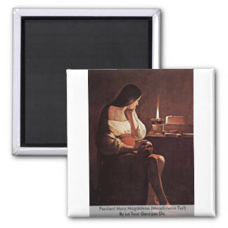 Penitent Mary Magdalene (Magdalena Terf) 2 Inch Square Magnet