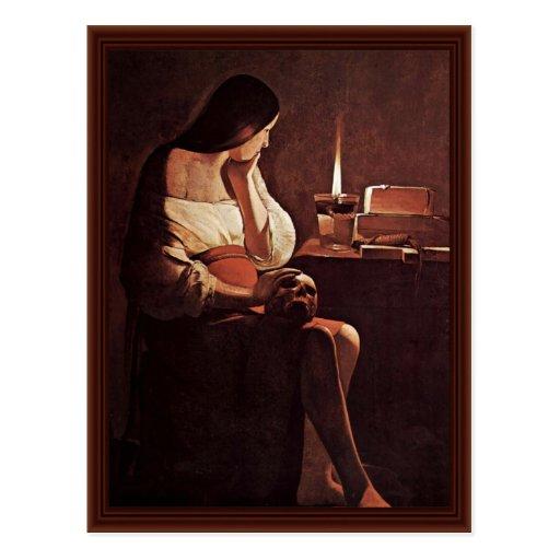 Penitent Mary Magdalene (Magdalena Terf) Postcard