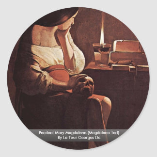Penitent Mary Magdalene (Magdalena Terf) Classic Round Sticker