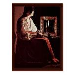 Penitent Mary Magdalene (Magdalena Wrightsman) Postcard