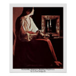 Penitent Mary Magdalene (Magdalena Wrightsman) Posters