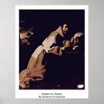 Penitent St Francis de Zurbaran De Francisco Poster
