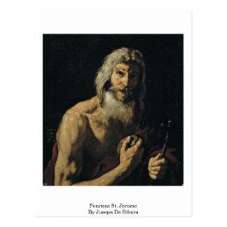 Penitent St. Jerome By Jusepe De Ribera Postcard