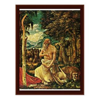 Penitent St Jerome de Albrecht Altdorfer Postal