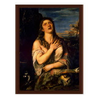 Penitent St Mary Magdalena por Tizian Tarjetas Postales