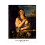 Penitent St. Mary Magdalene By Titian Post Cards