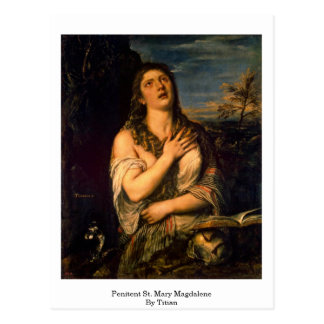 Penitent St. Mary Magdalene By Titian Postcard