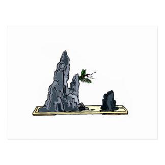 Penjing bonsai graphic image design 1 postcard