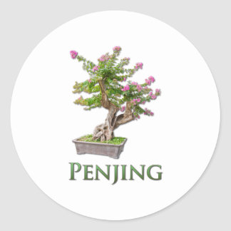 Penjing Classic Round Sticker