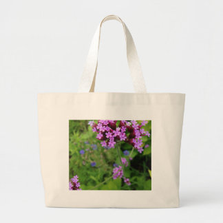 Penland Purple Flower: Sallie by My Side Large Tote Bag