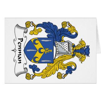 Penman Family Crest Card