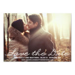 "Penmanship Save the Date Announcement 5"" X 7"" Invitation Card"