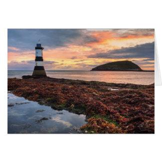Penmon Lighthouse Sunrise | Puffin Island Card