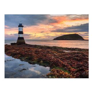 Penmon Lighthouse Sunrise | Puffin Island Postcard
