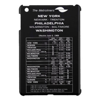 Penn Central Railroad Metroliner Timetable iPad Mini Case