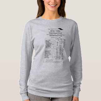 Penn Central Railroad Metroliner Timetable T-Shirt