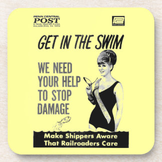 Penn Central Railroaders Care about Damage Drink Coaster