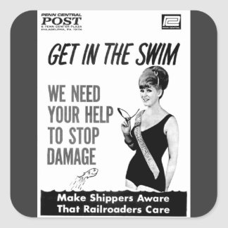 Penn Central Railroaders Care about Damage Sticker