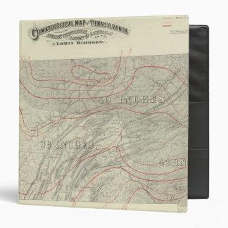 Penn climatological map 3 ring binder